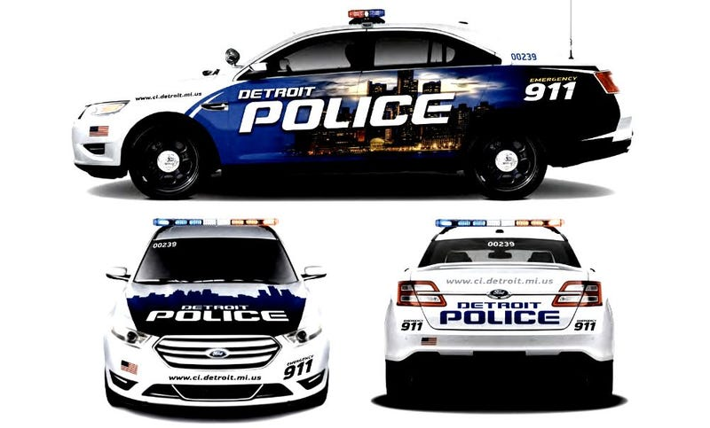 Illustration for article titled The New Detroit Police Cars Are Hurting My Eyes