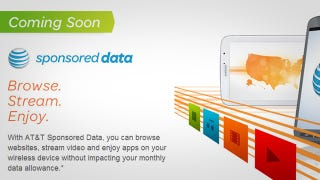 "Illustration for article titled AT&T Announces ""Sponsored Data"" That Won't Count Against Your Data Cap"