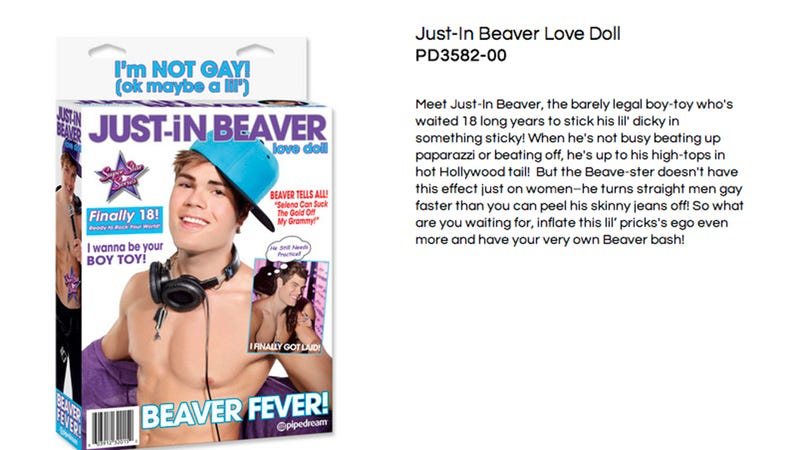Illustration for article titled Justin Bieber Not Happy About the Justin Bieber Sex Doll
