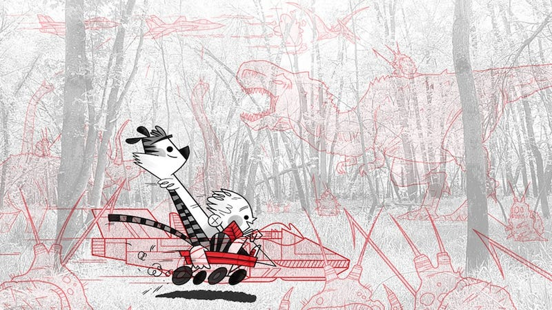 Illustration for article titled Calvin and Hobbes enjoy an imaginative summer and winter