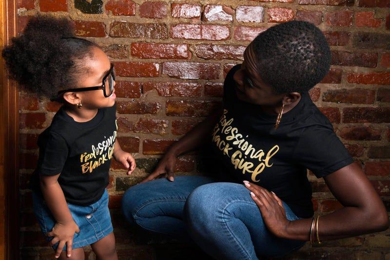 "Yaba Blay, creator of Professional Black Girl, with her granddaughter, ""Professional Black Girl"" Nazahah Sanaa.Courtesy of Yaba Blay"