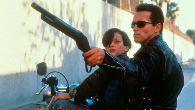 Arnold Schwarzenegger in the last good Terminator movie.