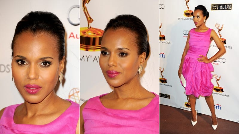 Illustration for article titled Kerry Washington Is Classically Chic in Pink