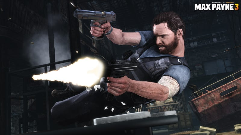 Illustration for article titled Max Payne 3 Screens Show Two Guns are Better Than None