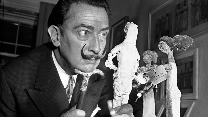 Dalí in 1956, the year Pilar Abel was born. Photo via AP Images