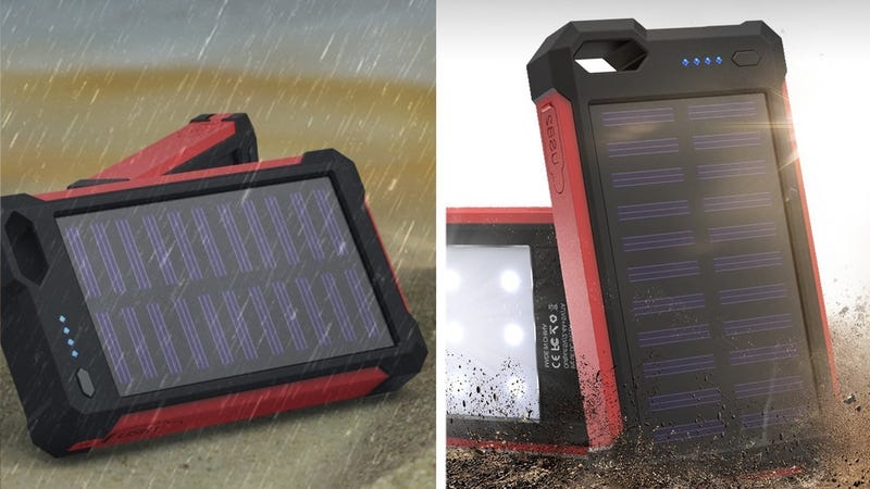 iClever 10,000mAh Solar Battery Pack, $15 with code GGGGDDDD
