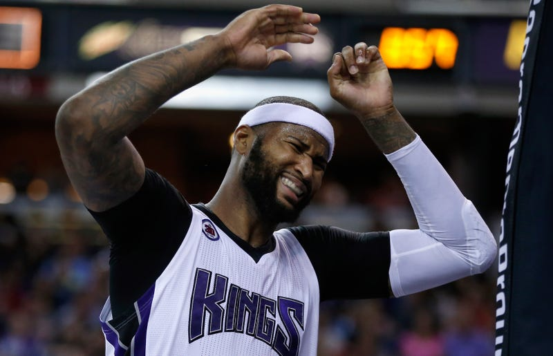 DeMarcus Cousins of the Sacramento Kings reacts after being called for a foul during a game against the New Orleans Pelicans at Sleep Train Arena on April 3, 2015, in Sacramento, Calif. Ezra Shaw/Getty Images