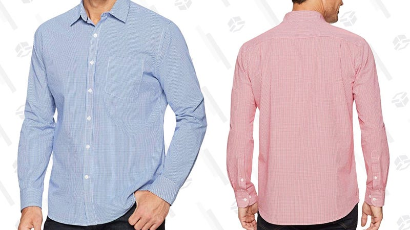 Amazon Essentials Gingham Shirt   $11   Amazon   Prime members only