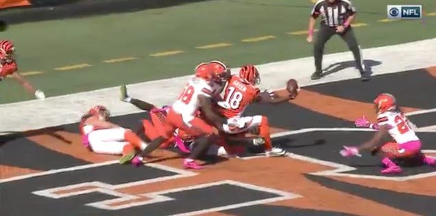 A.J. Green Tips Hail Mary Pass To Himself For Touchdown