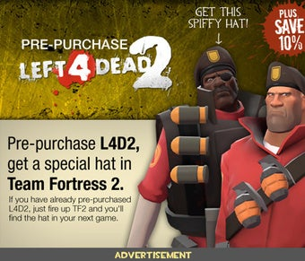 Illustration for article titled Preorder Bonus Puts L4D Headwear in Team Fortress 2