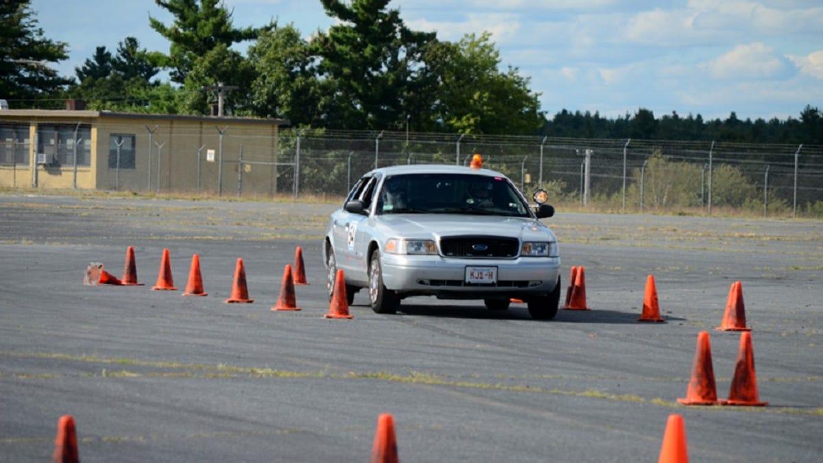 racing an ex-cop car