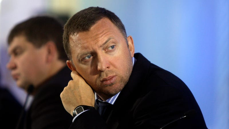 Billionaire Oleg Deripaska attends an investment forum in Moscow, Russia, Wednesday, Sept. 30, 2009.