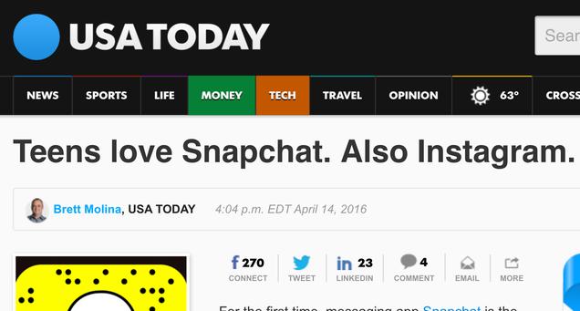 USA Today Breaks Story