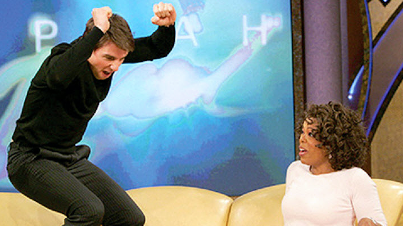 Tom Cruise jumping on Oprah's couch in 1995
