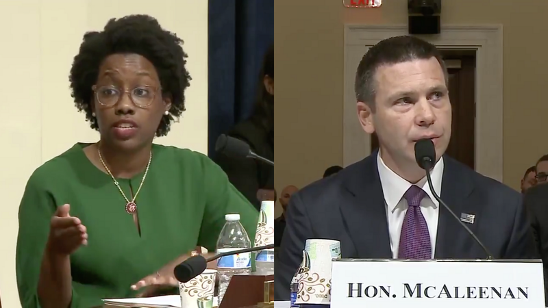 Illinois Rep. Lauren Underwood and Acting Homeland Security Sec. Kevin McAleenan