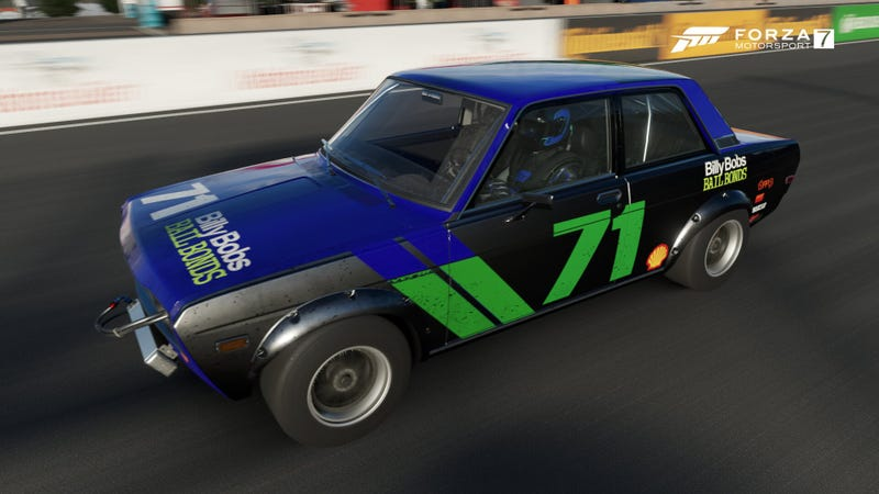 My Forza 7 Oppo Endurance Challenge Datsun keeps getting re-painted.