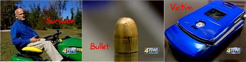 Illustration for article titled Moto RAZR Stops Bullet, Saves Man's Life