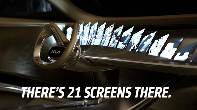 Kia s Electric Concept Has Twenty-One (21) Screens