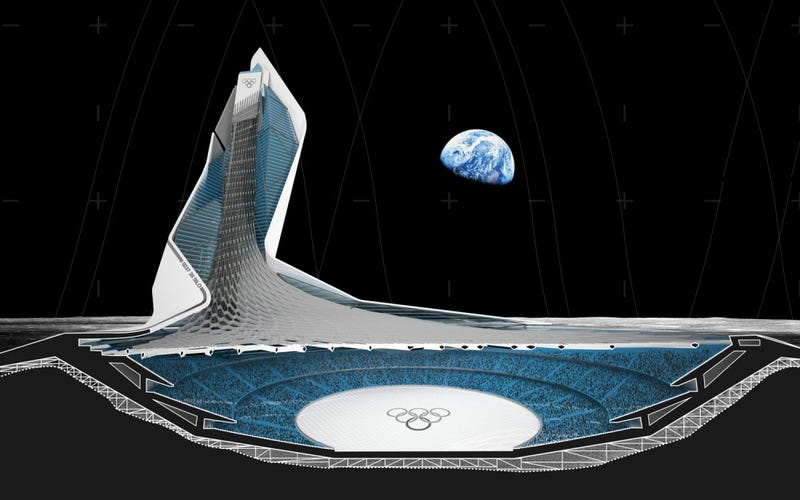 Illustration for article titled What a Lunar Olympic Stadium Looks Like