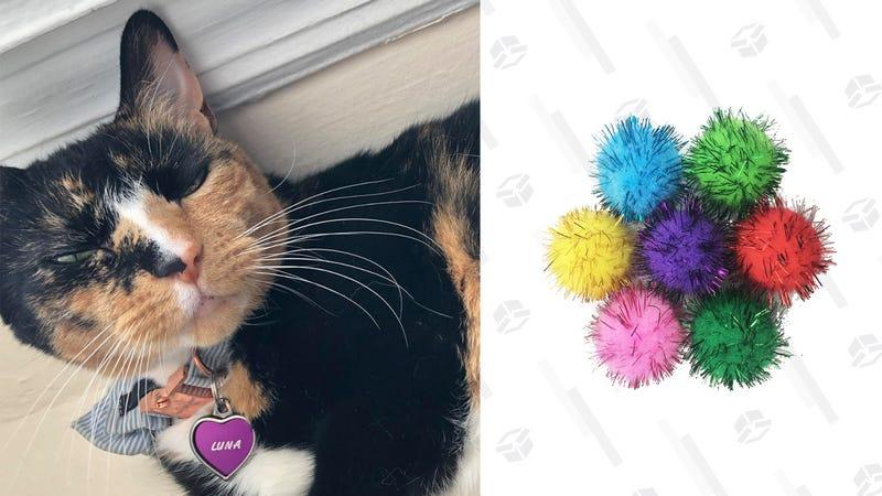 Luna (not for sale) and Vapker Sparkle Balls, $9