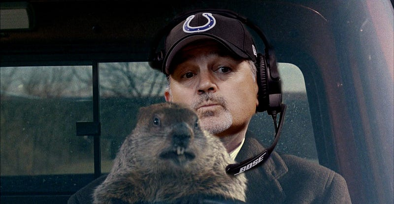 Illustration for article titled Chuck Pagano Gets Lost In Groundhog Day Metaphor During Press Conference