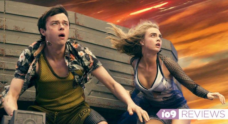 Valerian (Dane DeHaan) and Laureline (Cara Delevingne) in Valerian and the City of a Thousand Planets. All Images: STX