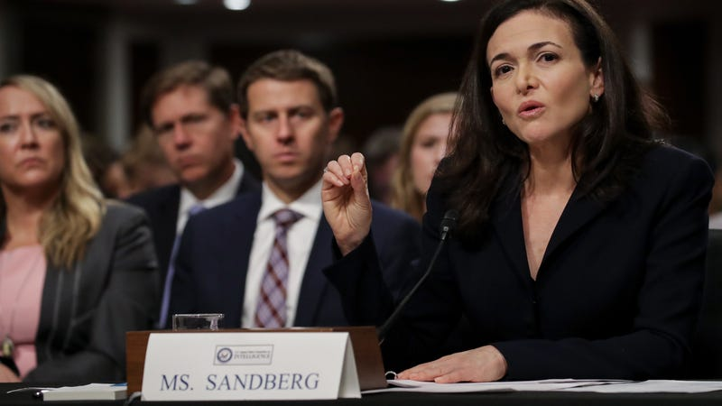 Facebook COO Sheryl Sandberg testifies to Senate Committee on foreign influence