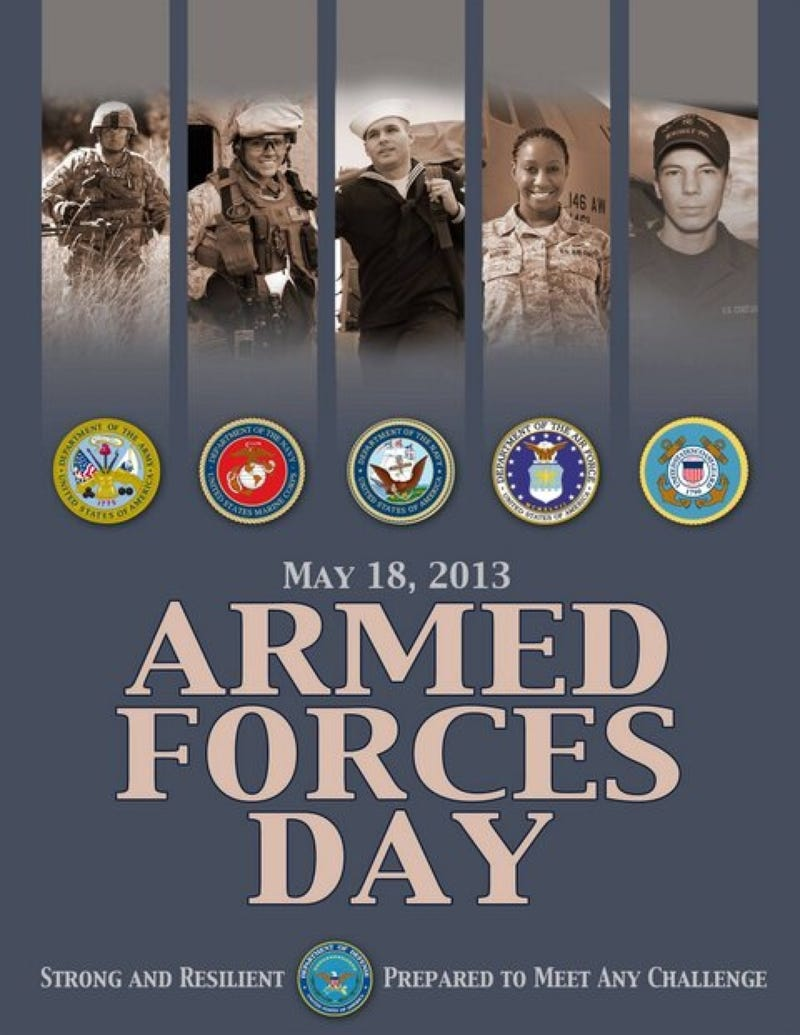 Illustration for article titled Today is Armed Forces Day: Strong and Resilient