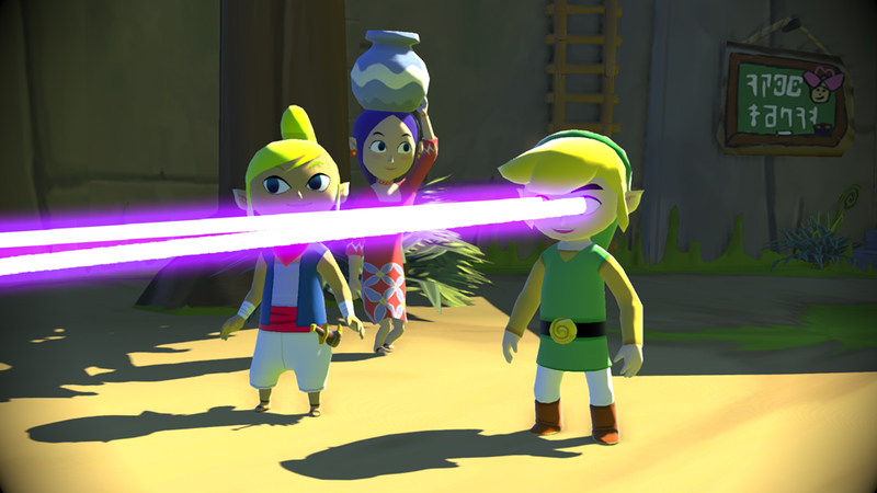 Illustration for article titled Link Almost Had Laser Eyes In Wind Waker