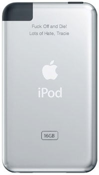 Illustration for article titled Engraved iPods: Worst Gift Idea For Someone You're Merely Banging