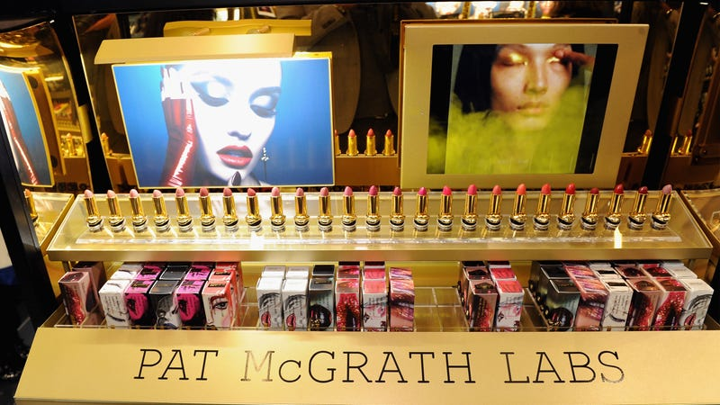 Products on display during the PAT McGRATH LABS Unlimited Edition Launch at Sephora Herald Square on October 12, 2017 in New York City.