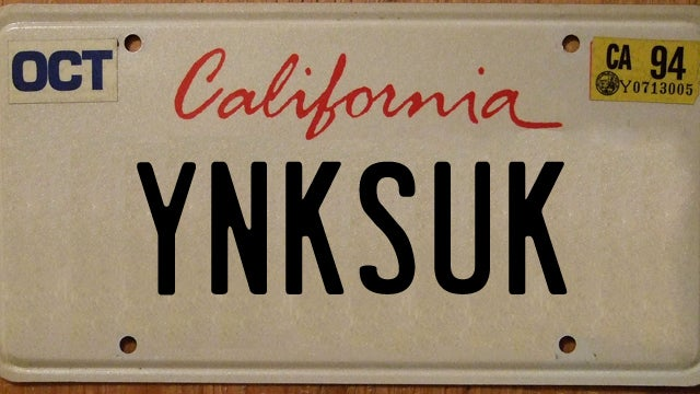 100 license plates banned by the california dmv. Black Bedroom Furniture Sets. Home Design Ideas