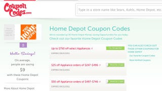 Illustration for article titled CouponCodes Relaunches, Aggregates Discount Codes for Thousands of Retailer Web Sites