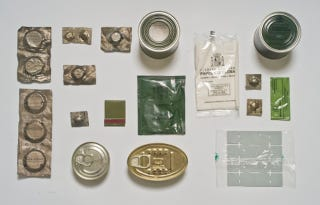 Illustration for article titled What military food ration packs look like around the world