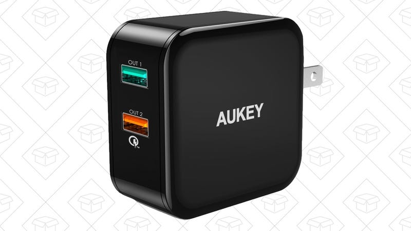 Aukey Quick Charge Wall Charger, $6 with code UYHOLG2W