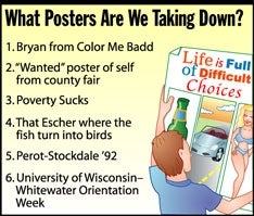 Illustration for article titled What Posters Are We Taking Down?