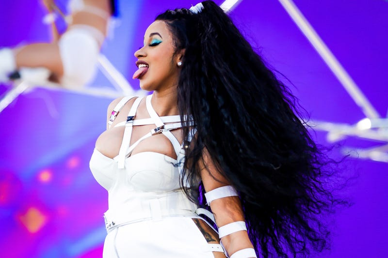 Cardi B performs onstage during the 2018 Coachella music festival April 22, 2018, in Indio, Calif.