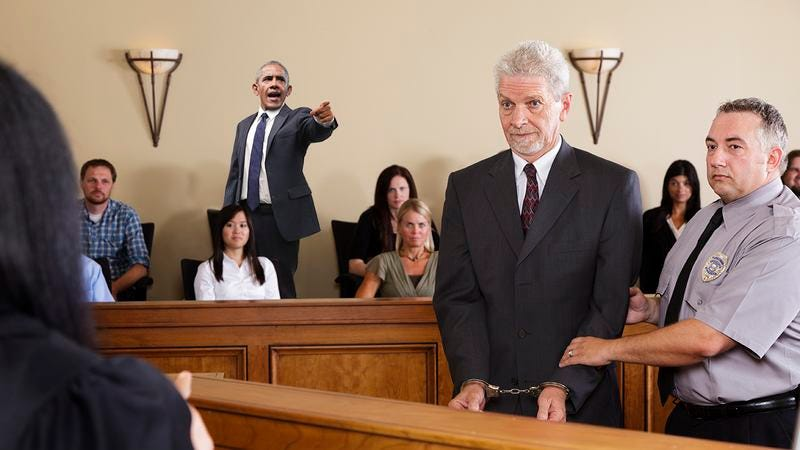 Barack Obama in a courtroom.