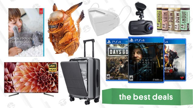 Friday's Best Deals: PS4-Exclusive Games Sale, Sony X900F TV, Adobe Photoshop Elements 2020, Kelake Alien Pikachu Figure, Aukey Dual Dash Cam, K95 Masks, and More