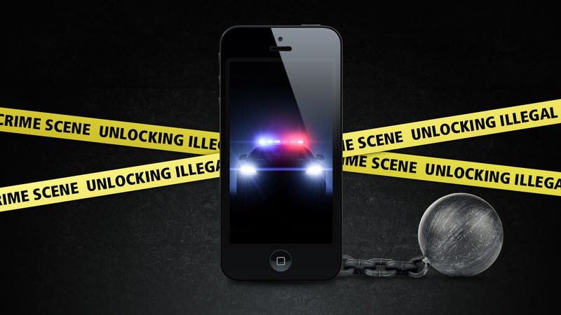 Illustration for article titled Unlocking Your Phone Without Permission Becomes Illegal Tomorrow: Here's Why You Should Care