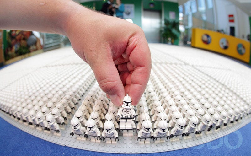 Illustration for article titled 35,310 Lego Star Wars Clone Trooper Army Invades Earth