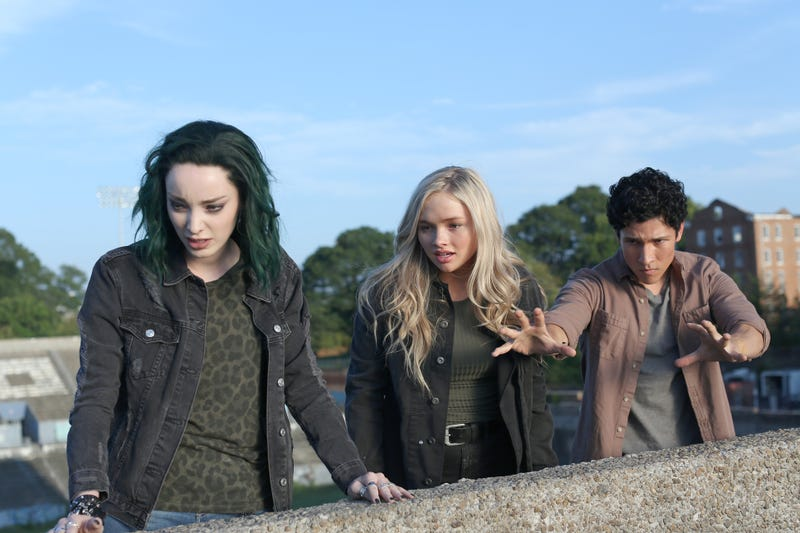 Emma Dumont, Natalie Alyn Lind, and Danny Ramirez star in The Gifted (Photo: Eliza Morse/Fox Networks)