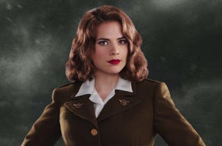 "Illustration for article titled Peggy doesn't need Cap to kick butt in the first ""Agent Carter"" clip"