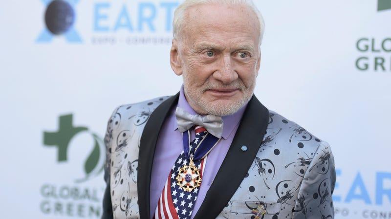 Buzz Aldrin at the 15th annual Global Green Pre-Oscar Gala on Wednesday, Feb. 28, 2018.