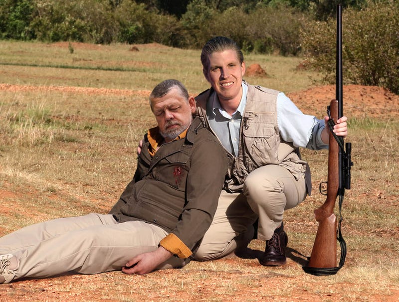Illustration for article titled Eric Trump Poses With Carcass Of Safari Guide Shot On African Hunting Trip