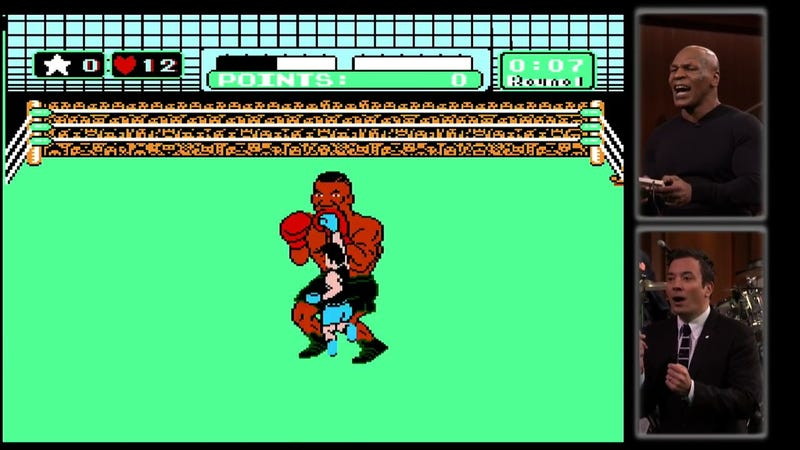 Illustration for article titled Mike Tyson Tries to Beat Mike Tyson in Punch-Out