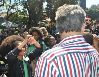 Students at Pretoria Girls High in South Africa protest against what they say are racist hair policies at the school.Twitter