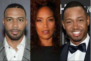 Omari Hardwick; Mara Brock Akil; Terrence JJamie McCarthy/Getty Images; Joe Scarnici/Stringer/Getty Images; Ethan Miller/Getty Images