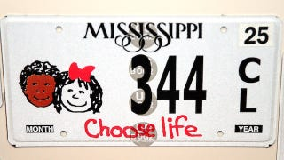 Illustration for article titled North Carolina Sued Over 'Choose Life' License Plates