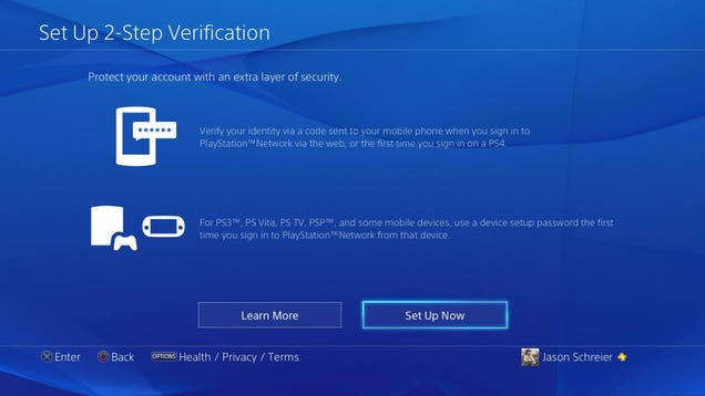 Go Set Up Two-Step Verification On Your PlayStation Right Now